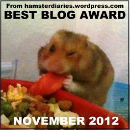 Best Blog Award November 2012
