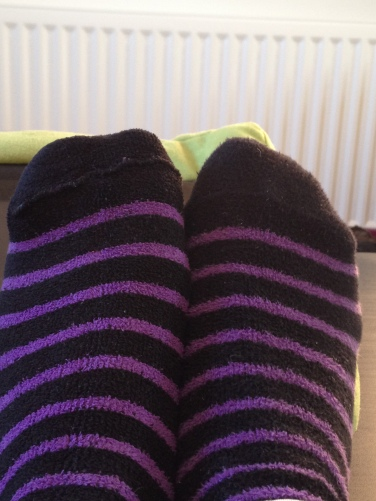 An inside out sock or top or jeans... Its alllllll good luck :)